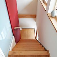 Treppe aus Eichenholz