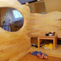 Leseecke aus massivem Fichtenholz