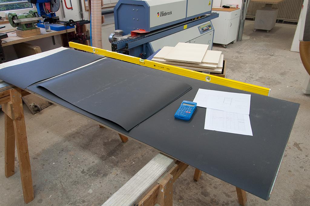 Schreibtisch In Ahorn Und Linoleum Holzwerkstatt