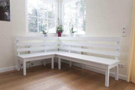 Sitzbank aus weißem Eschenholz