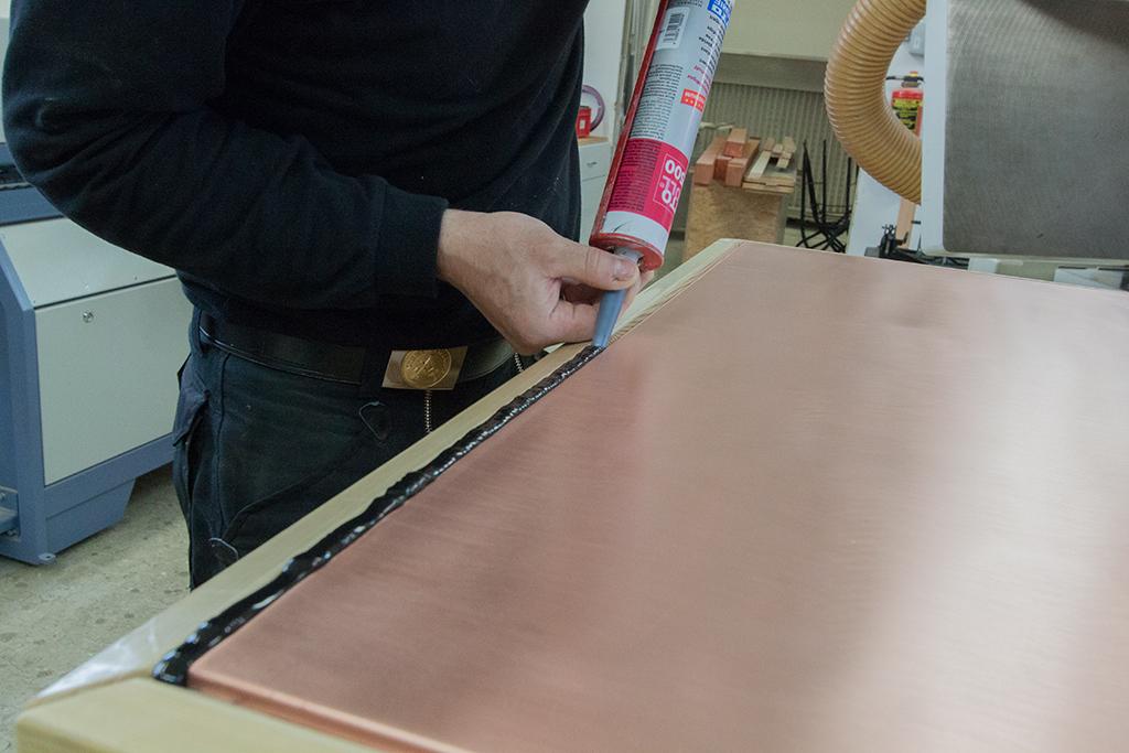 Versiegelung der Kupferplatte