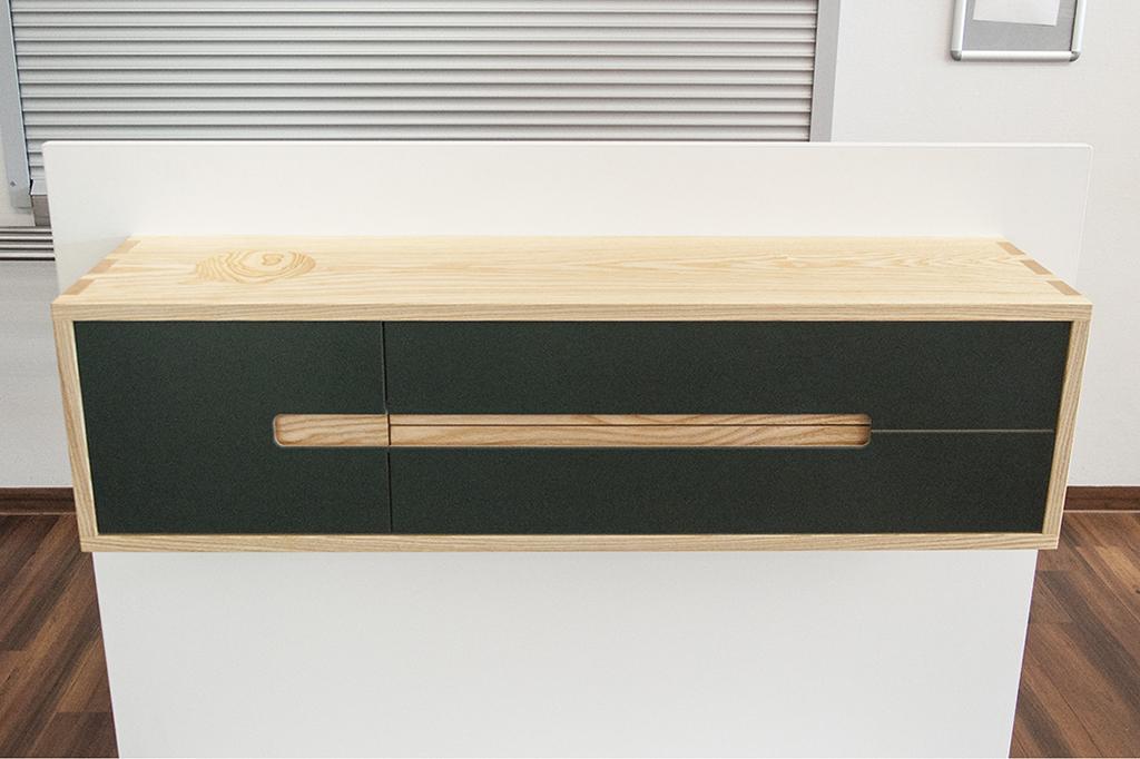 sideboard in esche und linoleum gesellenst ck 2017 holzwerkstatt. Black Bedroom Furniture Sets. Home Design Ideas