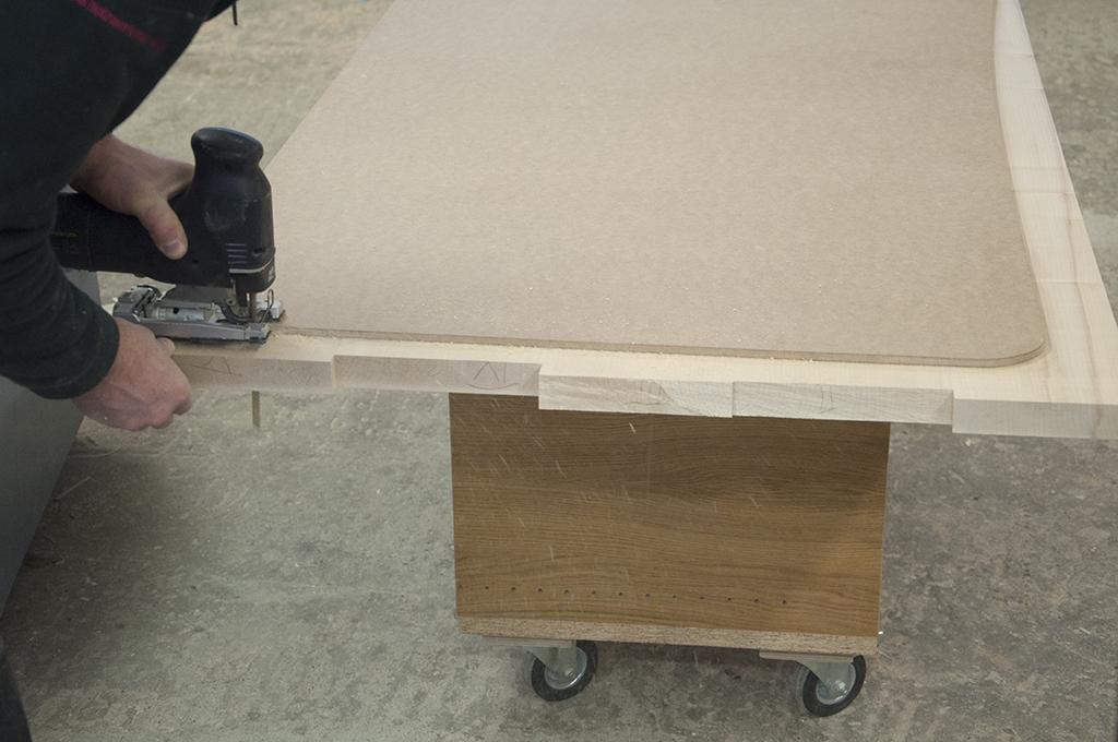 Ahorn schreibtisch holzwerkstatt for Schreibtisch aus ahorn