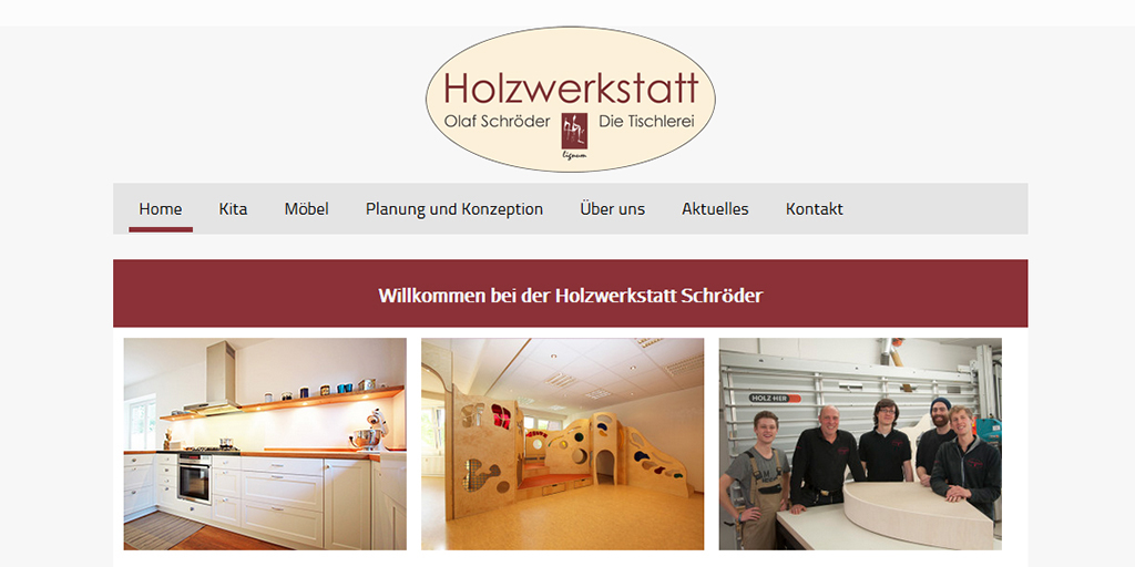 Internetseite Website responsiv Tischlerei